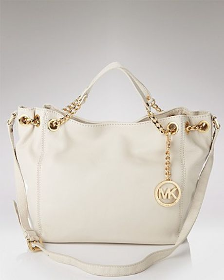Michael Kors Michael Jet Set Gathered Tote in White (bordeaux)