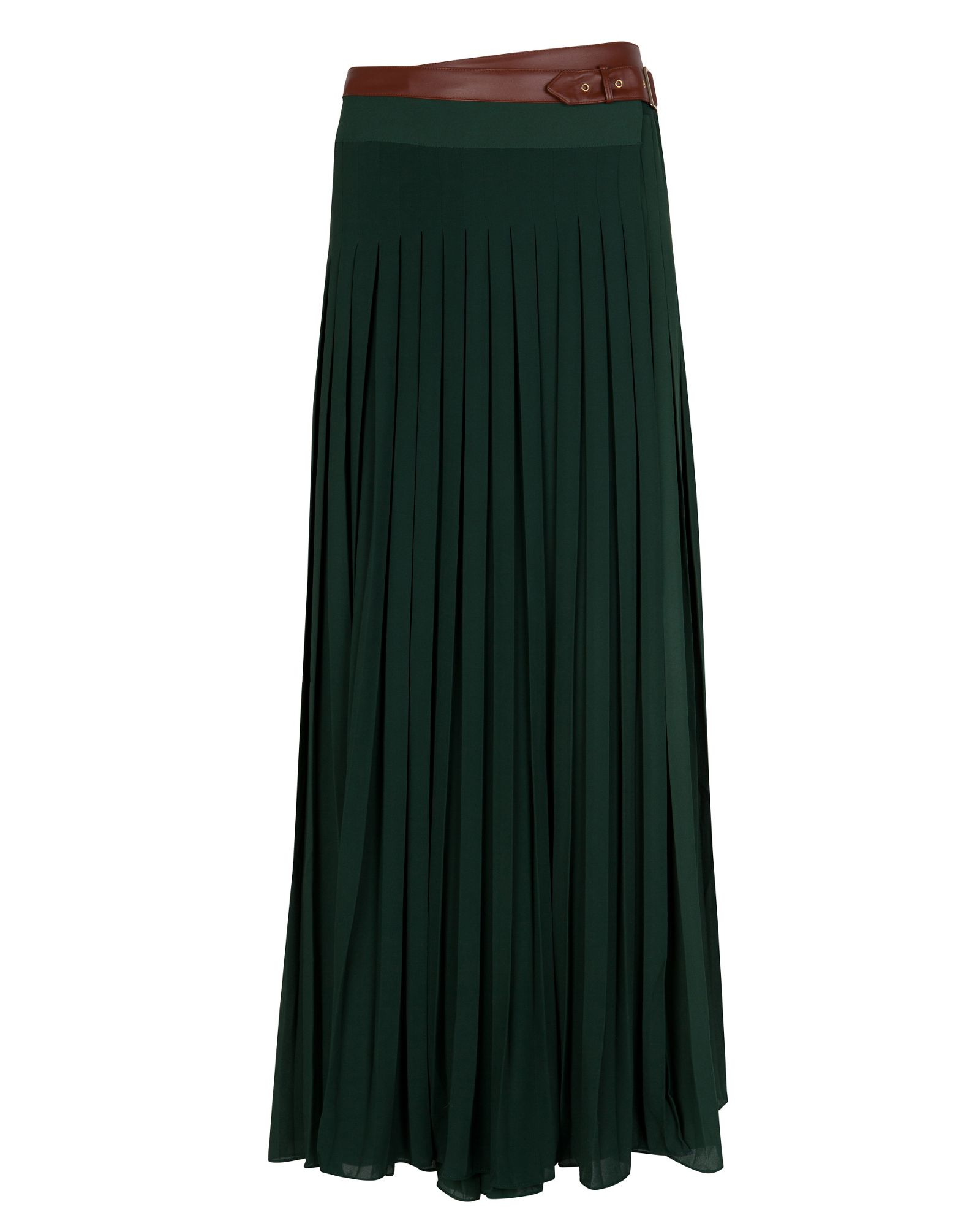 ted baker ted baker galva pleated maxi skirt in green lyst