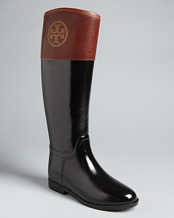 Tory Burch Riding Rain Boots Diana In Brown Lyst