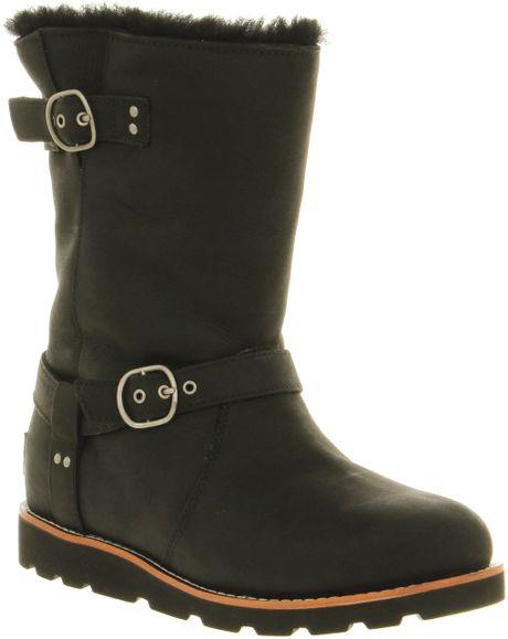 ugg noira calf boot in black lyst