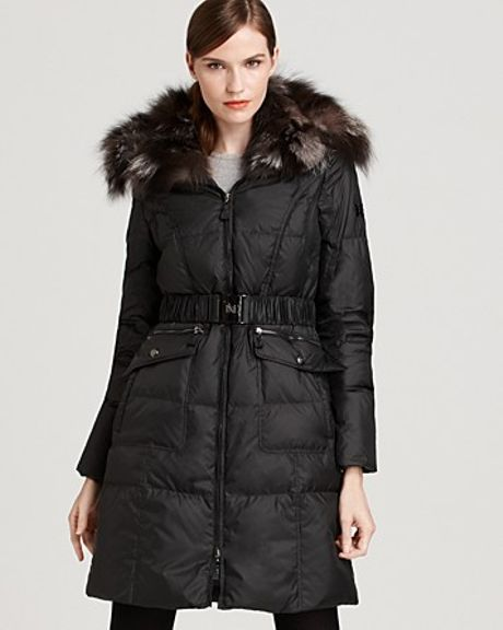 Dawn Levy Cathy Long Down Coat in Black