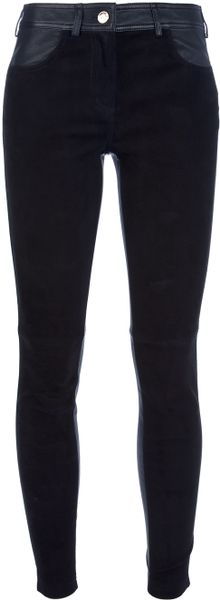 Givenchy Skinny Zip Bottom Trouser in Black