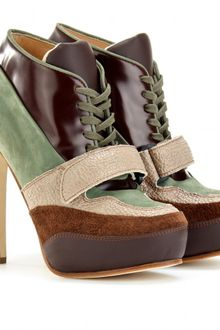 Acne Ace Laceup Leather Booties - Lyst