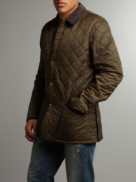 Barbour Conway Tailored Quilted Padded Jacket in Green for Men (olive