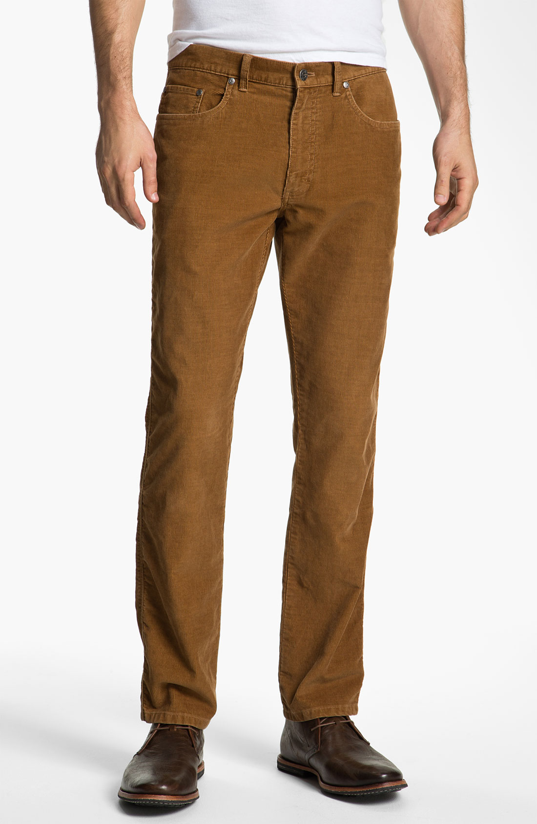 Brooks brothers Slim Fit Corduroy Pants in Brown for Men | Lyst