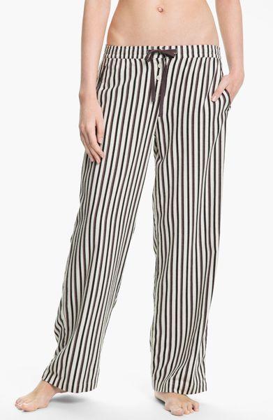 Dkny Mans World Flannel Pajama Pants in Brown (lite biscut stripe)