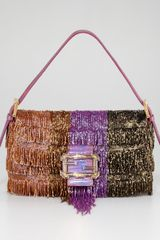 Fendi Beaded Fringe Baguette