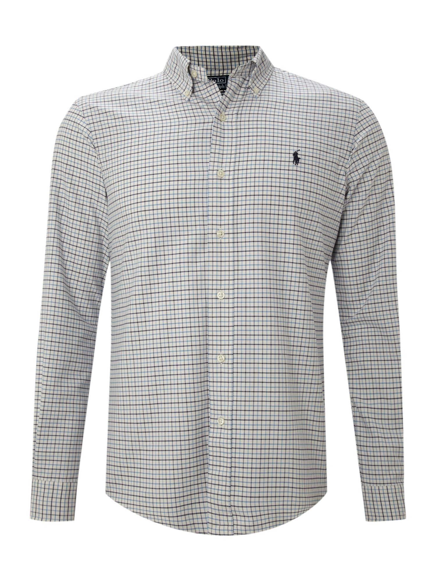 Polo ralph lauren long sleeved button down collared shirt for Polo shirts without buttons