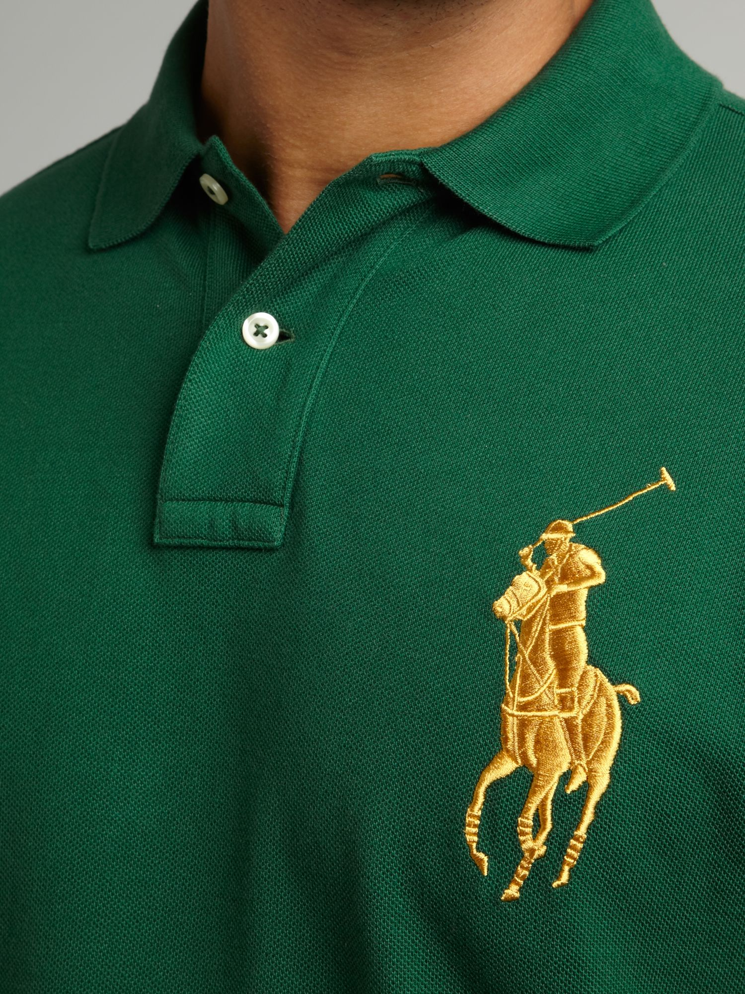 Ralph Lauren Green White Big Pony Polo Men