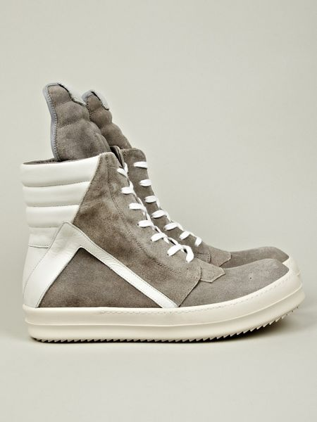 rick owens geobasket sneaker in white for men lyst. Black Bedroom Furniture Sets. Home Design Ideas