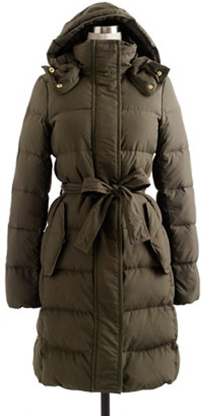 J.crew Wintress Puffer in Black (dark artichoke)