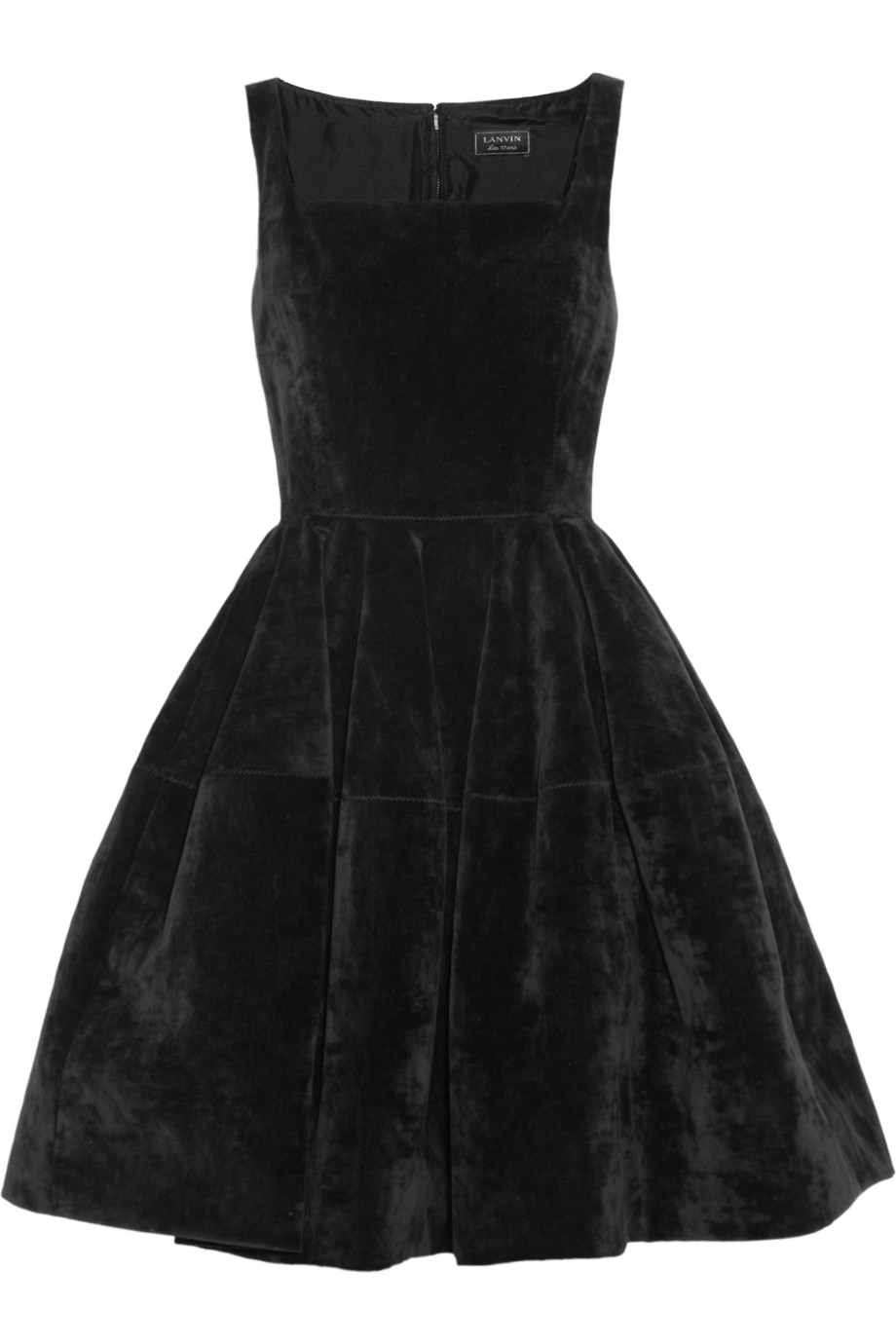 lanvin velvet dress in black lyst
