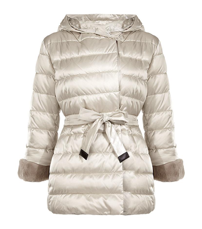 Lyst - Max mara Noveh Reversible Quilted Short Coat in Natural : max mara quilted jacket - Adamdwight.com