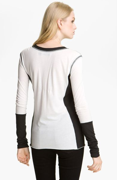 Rag bone shirt chelsea colorblock tee in white bright for Rag and bone white t shirt