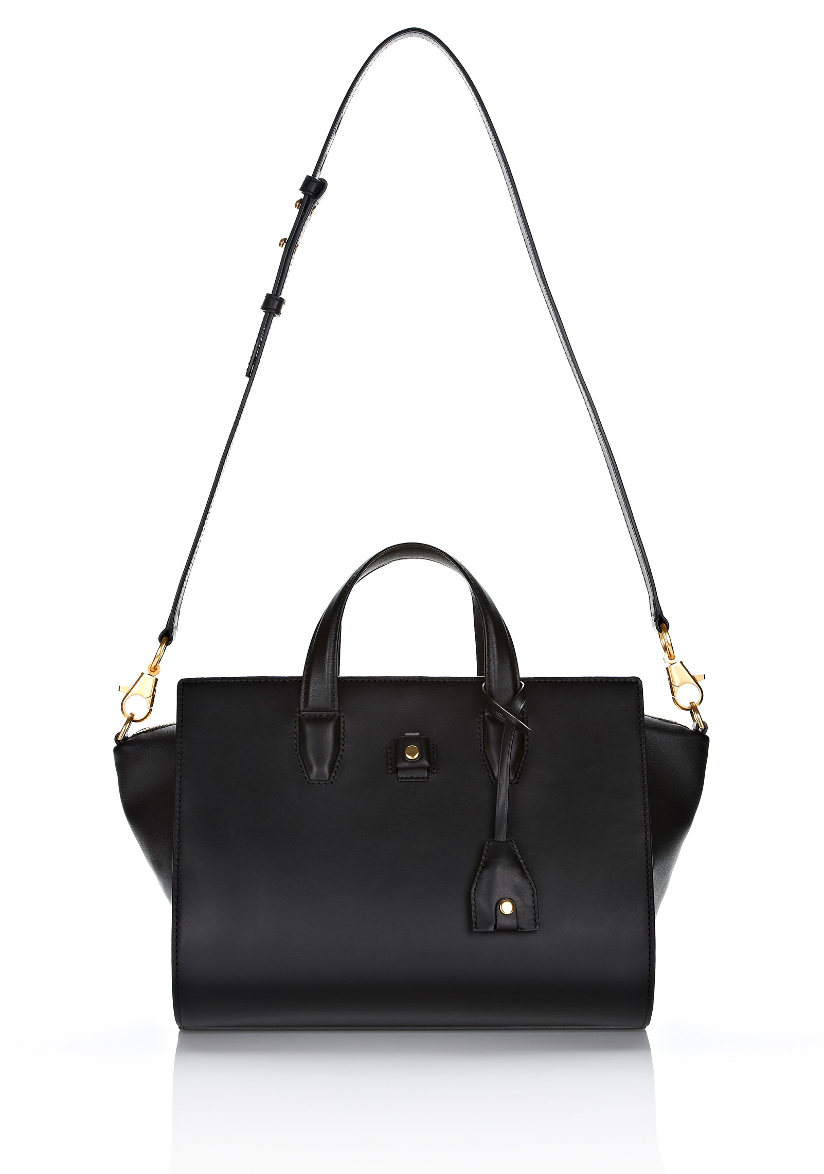 Lyst Alexander Wang Pelican Satchel In Black Leather