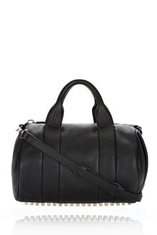Alexander Wang Rocco in Black Soft Pebble Leather with Pale Gold - Lyst