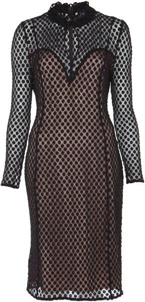 Alice By Temperley Davis Dress in Beige (black/nude)