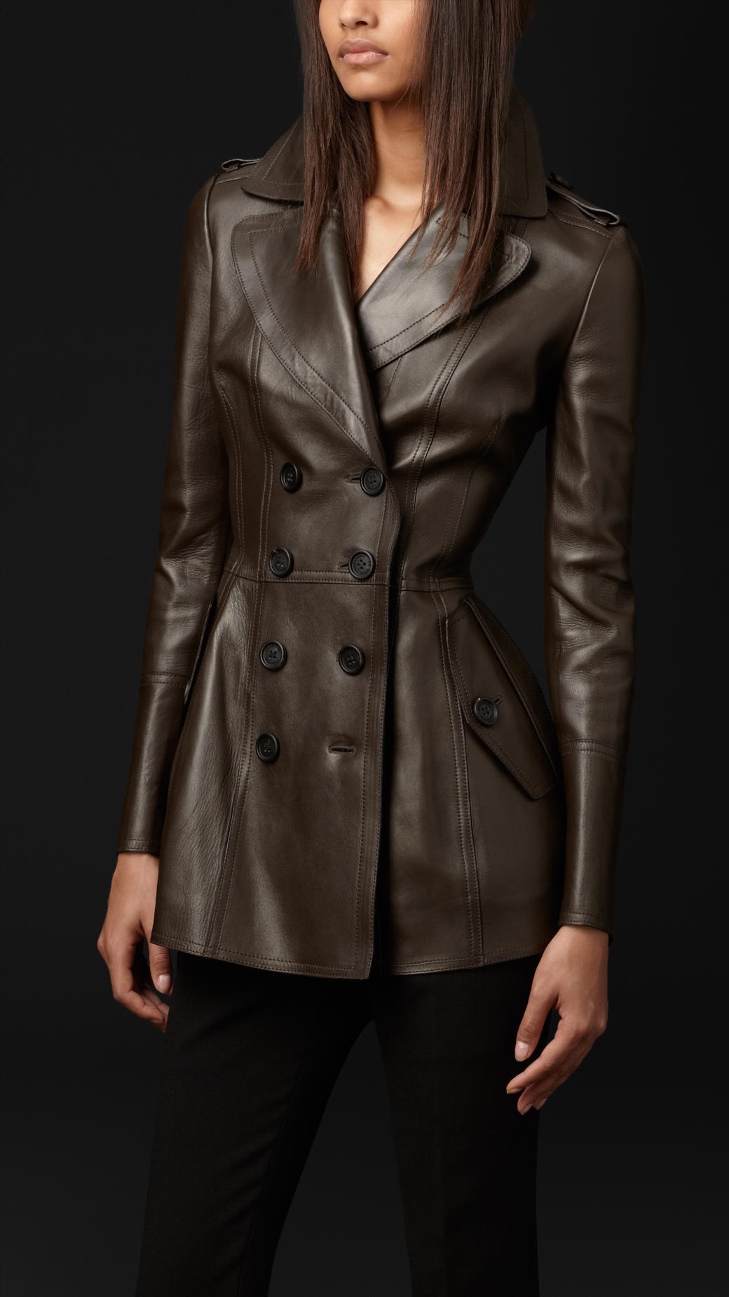 Burberry prorsum studded leather jacket