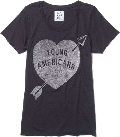 Club Monaco Zoe Karssen Tee in Gray (young americans)