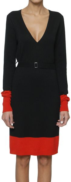 McQ by Alexander McQueen Cashmere Bicolored Dress - Lyst