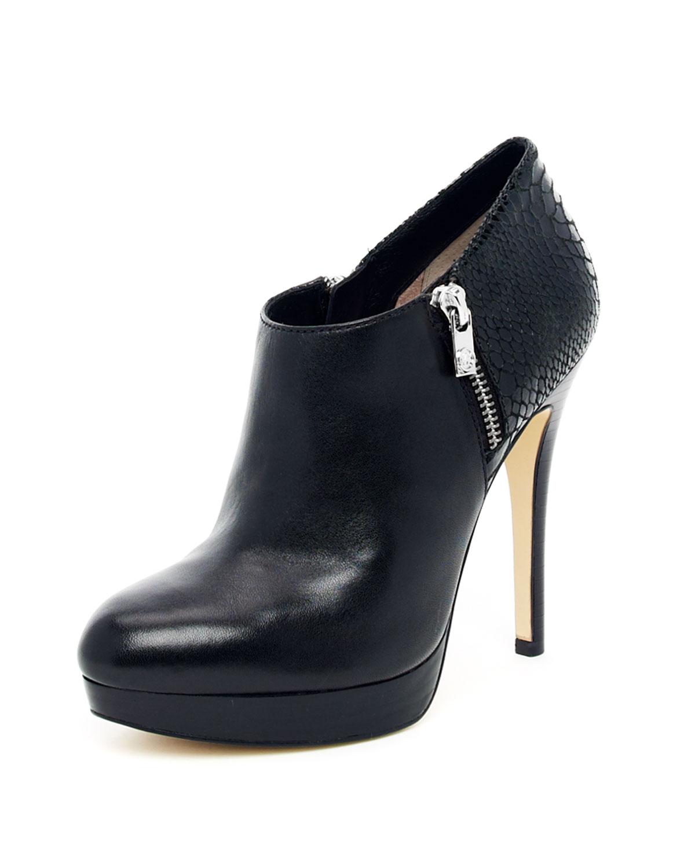 michael michael kors york ankle boot in black lyst. Black Bedroom Furniture Sets. Home Design Ideas