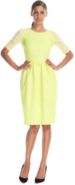 Preen By Thorton Bregazzi Resort Sara Dress in Yellow (yellow/beige)