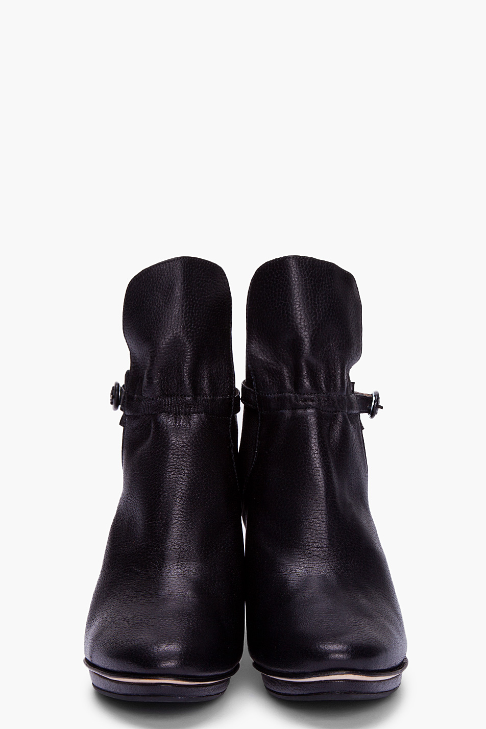 Repetto Black Leather Ankle Boots in Black | Lyst