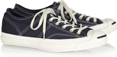 Converse Jack Purcell Helen Canvas Sneakers in Blue (navy)