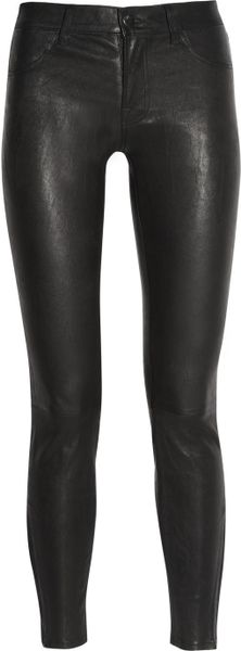 J Brand Stretch leather Skinny Pants in Black