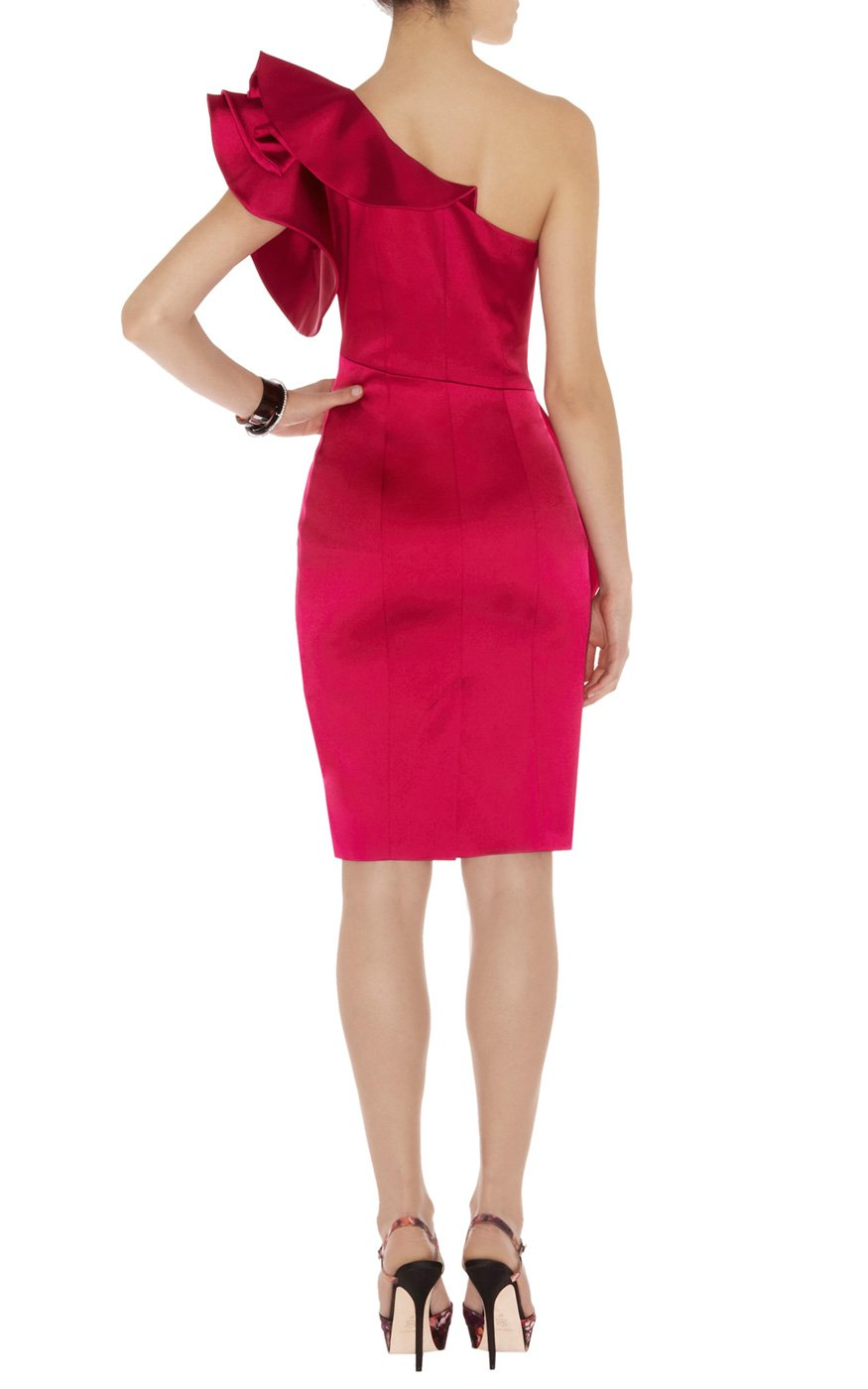 Lyst Karen Millen Leading Lady Satin Dress In Red