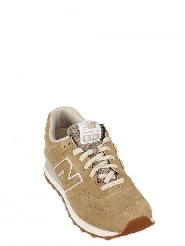 new balance 574 beige suede