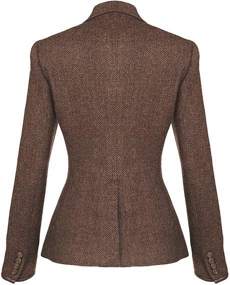 Ralph Lauren Blue Label Custom Riding Jacket in Brown ...