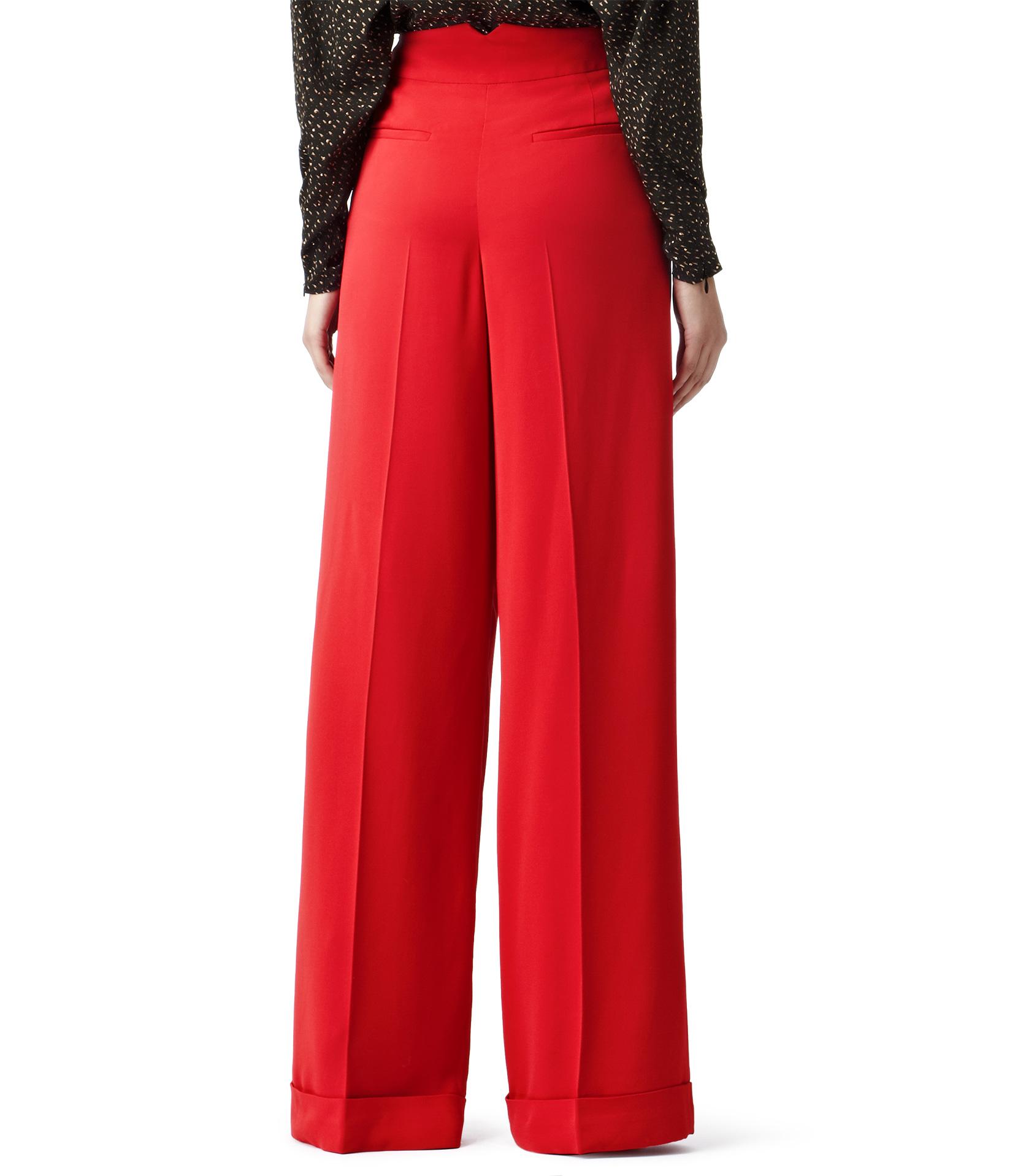Reiss Daria Wide Leg Trousers in Red | Lyst