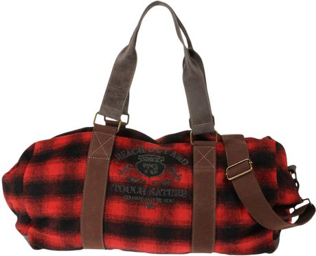 Timberland Travel Duffel Bag In Red Black Lyst