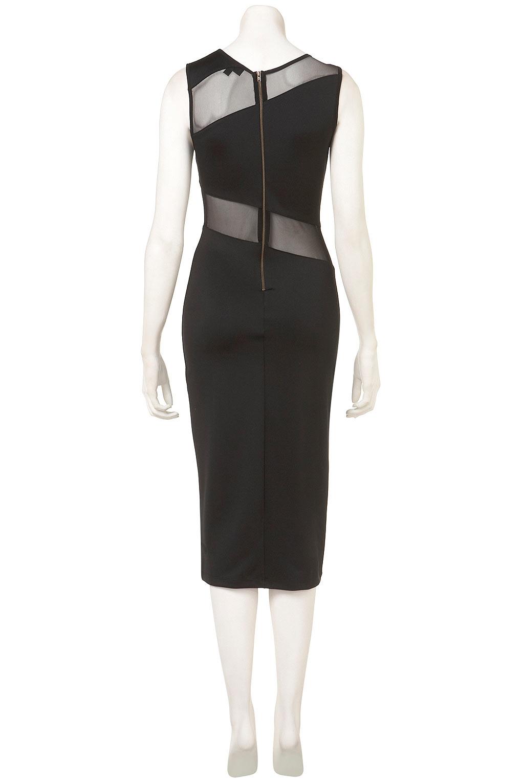 Topshop Zig Zag Mesh Midi Dress In Black Lyst