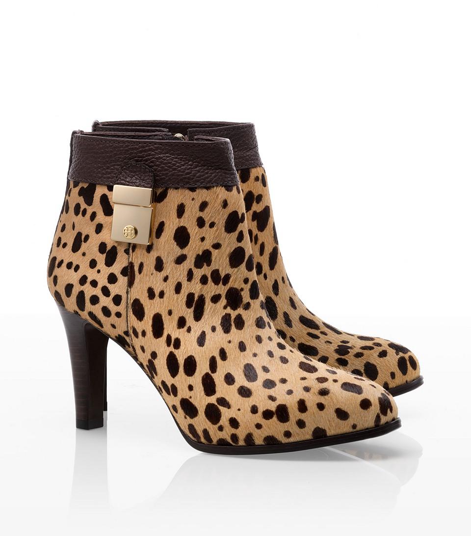 a5b8720fb53 Lyst - Tory Burch Priscilla Leopard-print Calf Hair Boots