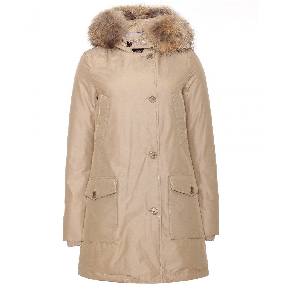 woolrich womens arctic parka in beige khaki lyst. Black Bedroom Furniture Sets. Home Design Ideas