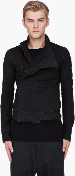 Gareth Pugh Black Wrap Jacket in Black for Men - Lyst