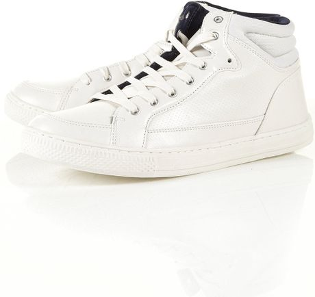 topman combat lo boot in white for lyst