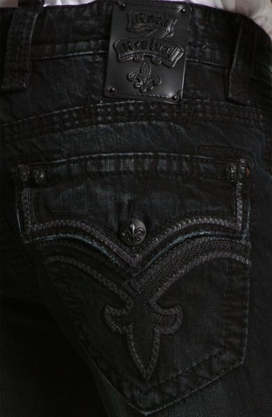 Mens Black Rock Revival Jeans