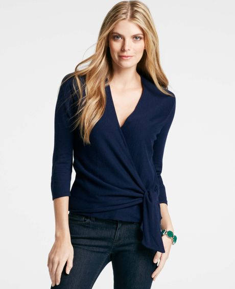 Blue Wrap Sweater 65