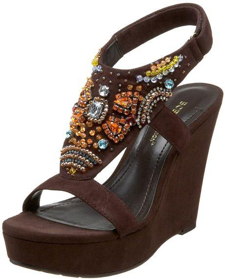 Bcbgeneration Bcbgeneration Womens Jessup Platform Sandal in Brown (dark cocoa)