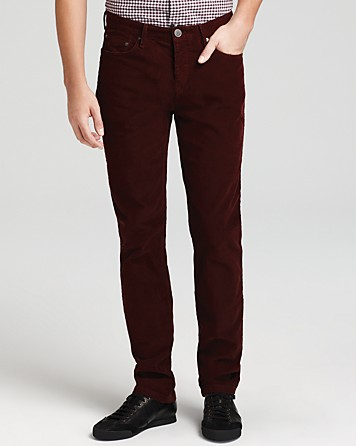 Burberry Steadman Corduroy Pants in Red for Men | Lyst
