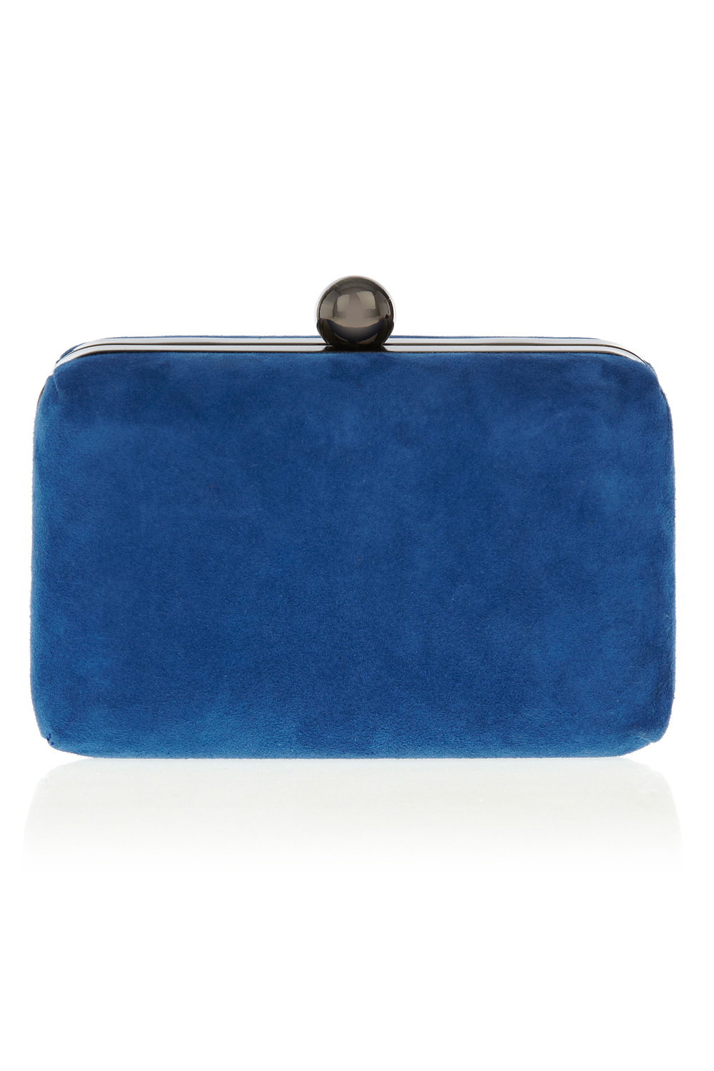 Coast Suede Box Bag in Blue (cobalt blue)