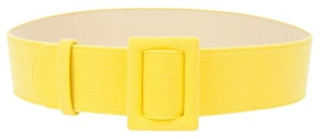 fausto puglisi wide belt in yellow lyst