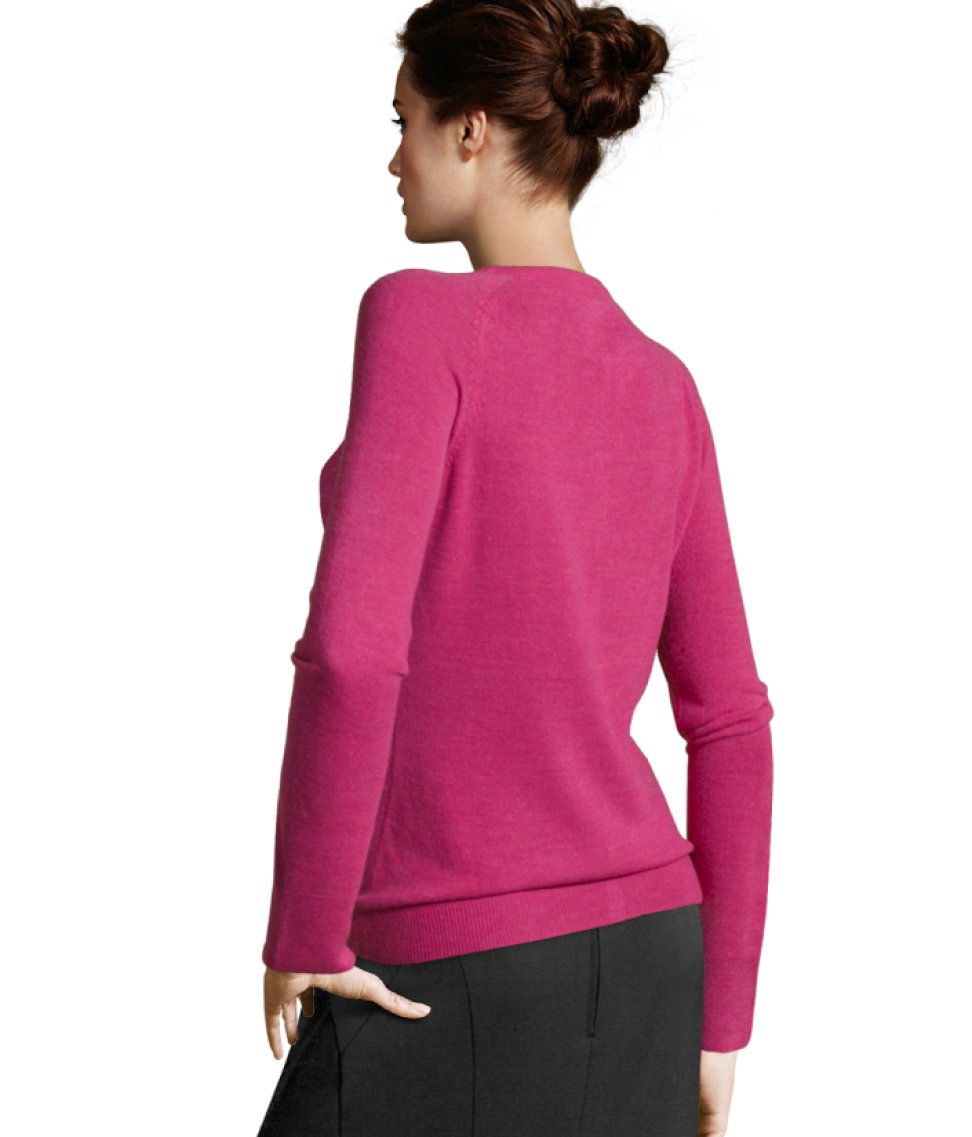 Lyst H Amp M Cashmere Cardigan In Pink