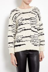 Iro Cream and Black Merino Knitted Jumper
