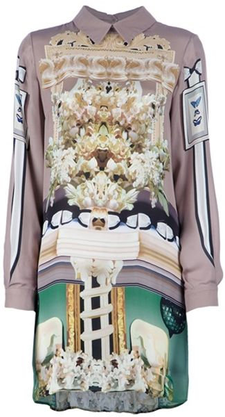 Mary Katrantzou Ivory Dress in White (ivory)