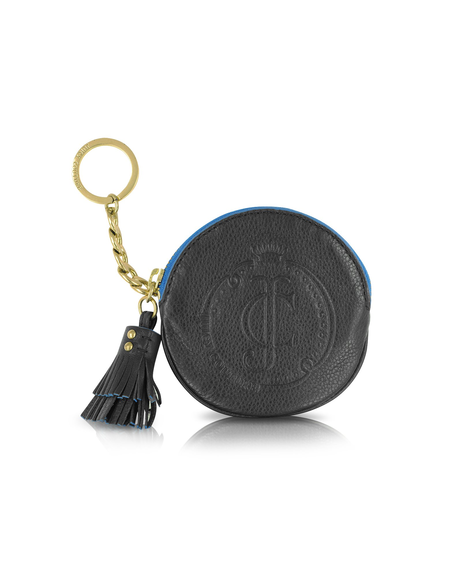 Juicy Couture Leather Coin Purse With Key Ring In Blue Lyst