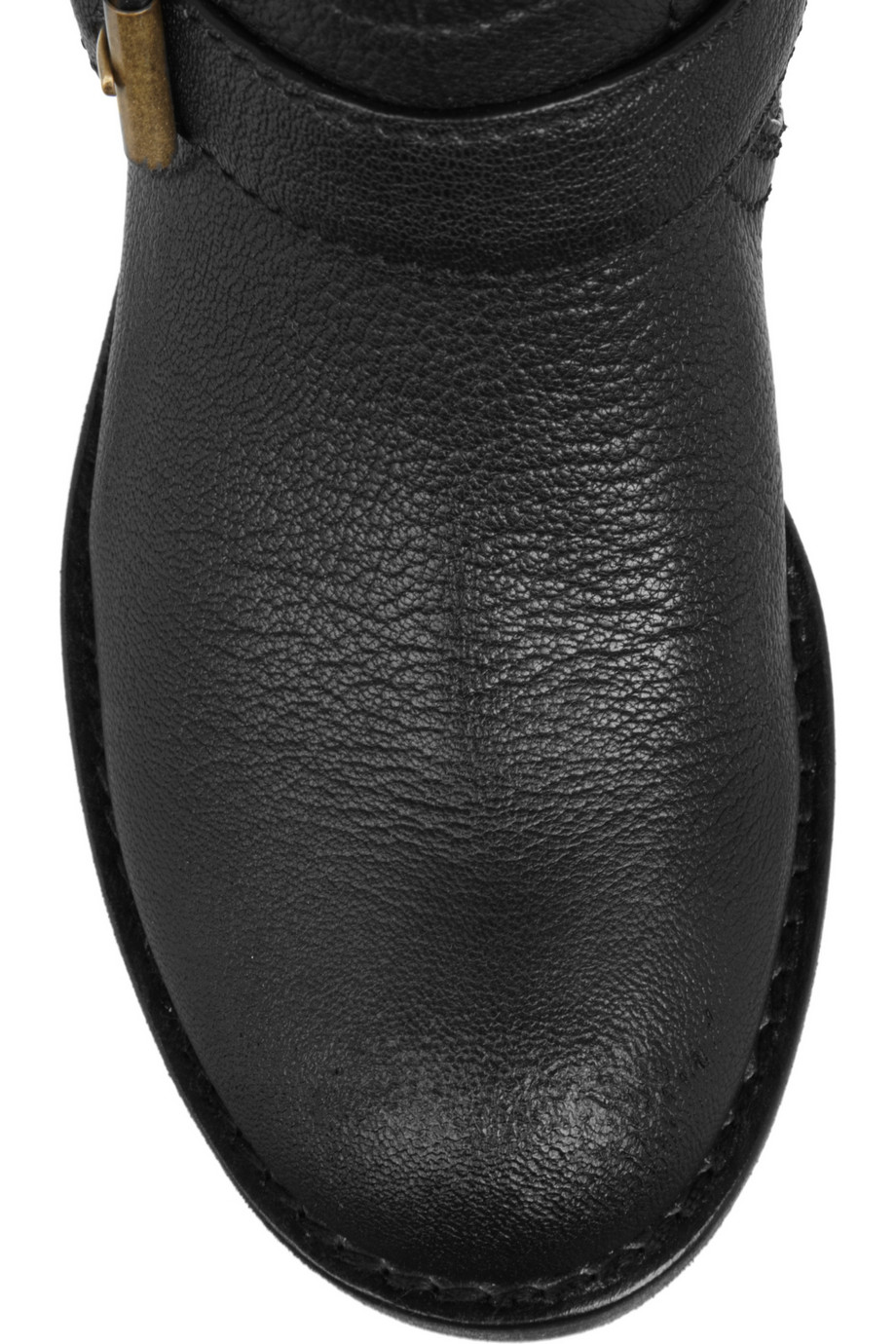 Marc By Marc Jacobs Shearling Lined Leather Biker Boots in Black